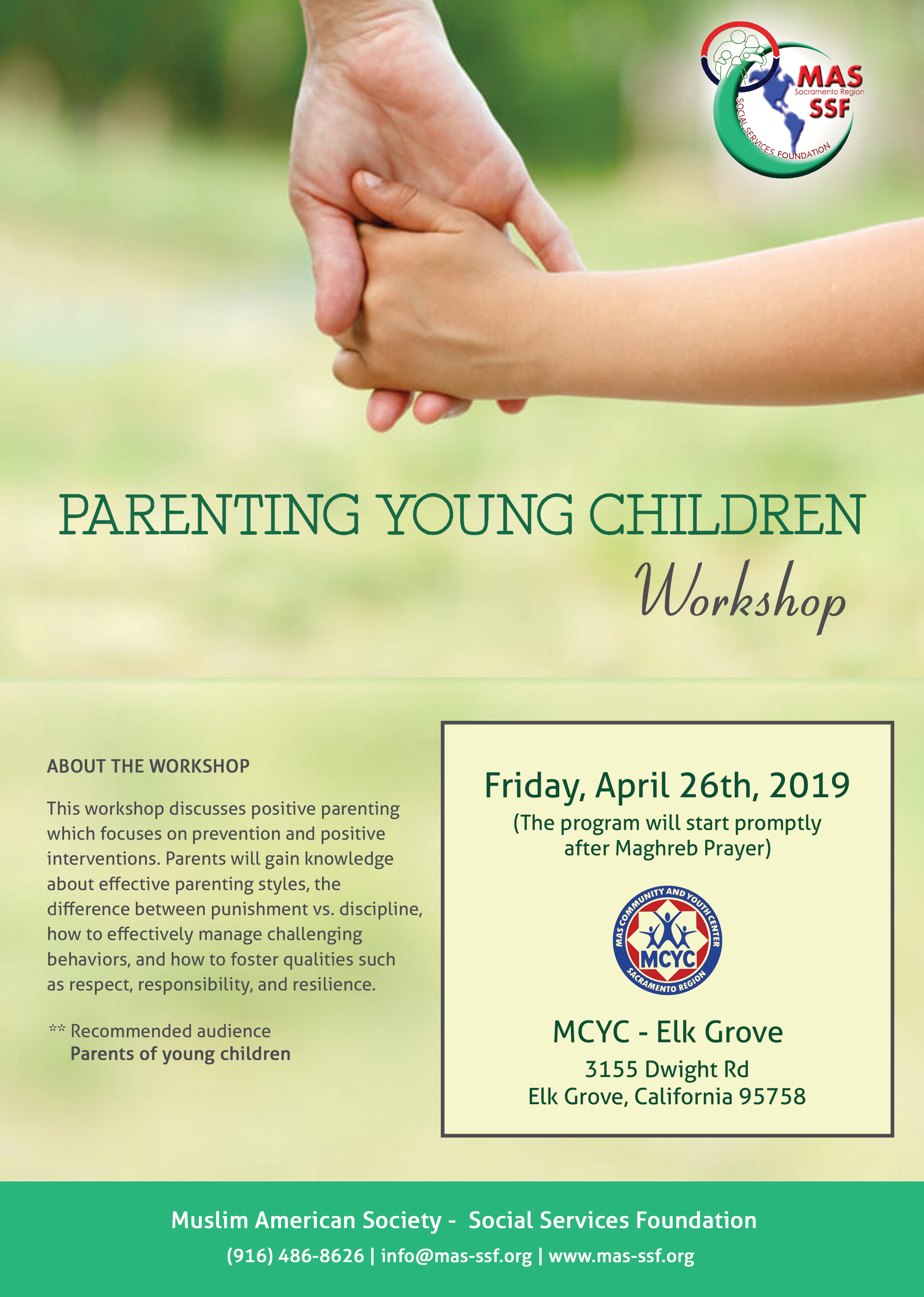 Parenting Young Children at MCYC – Elk Grove