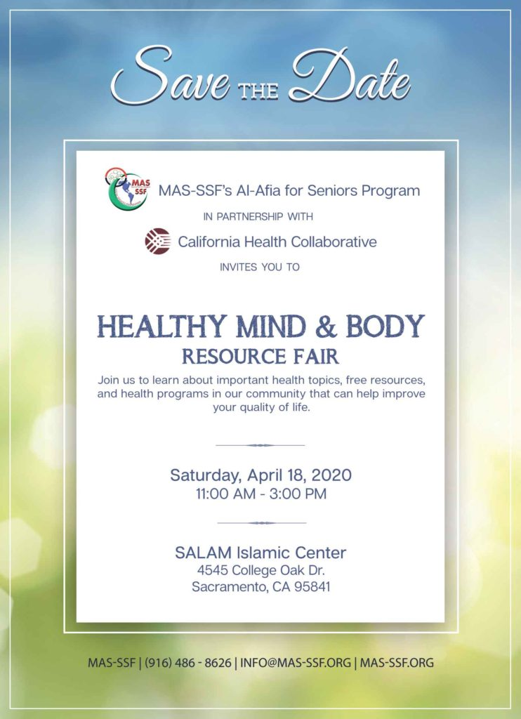 Healthy Mind and Body Resource Fair