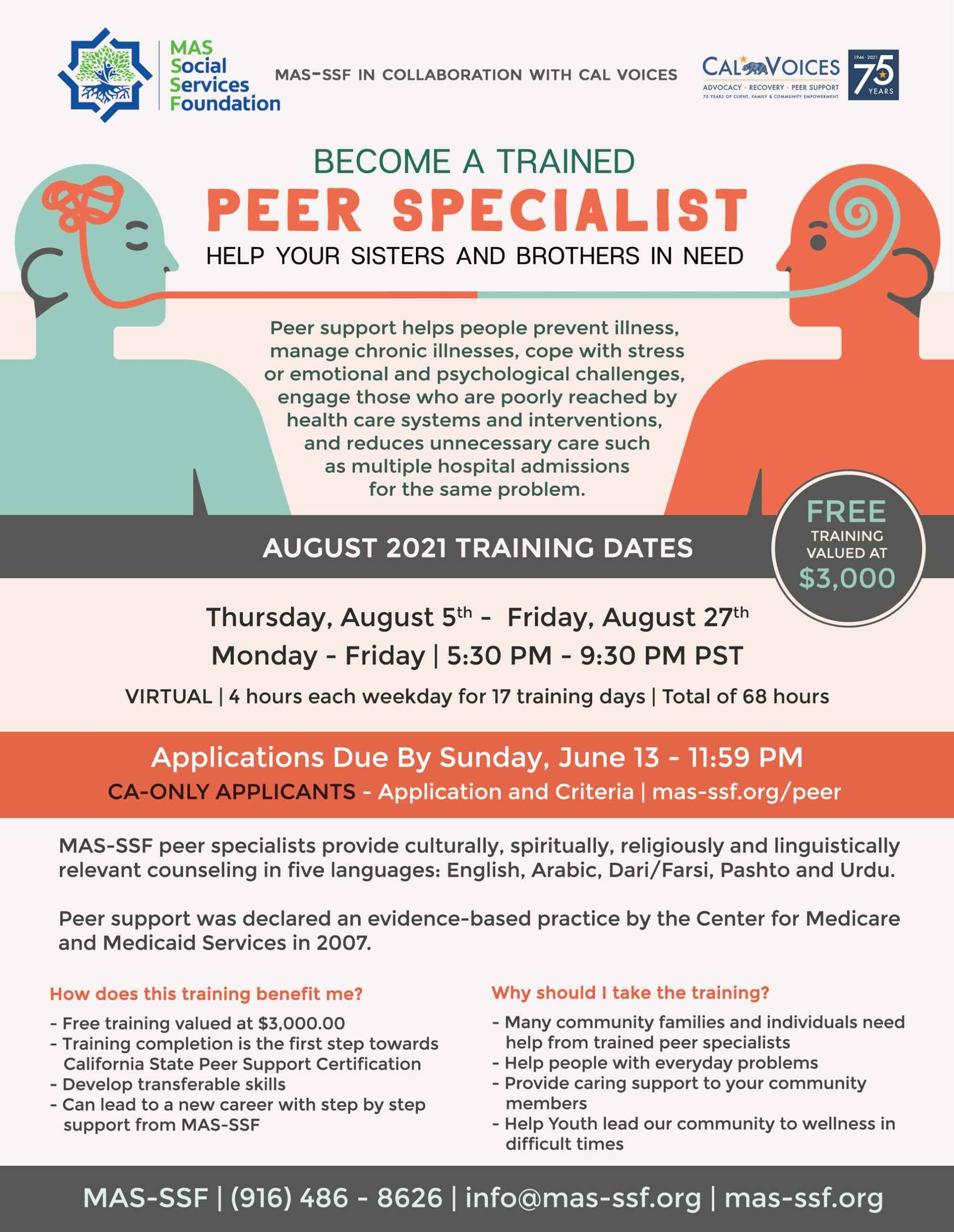 Become a trained peer specialist in California